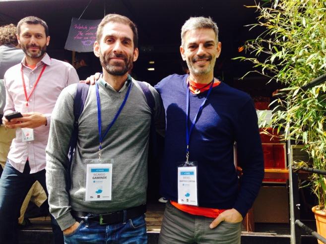 Ricardo Gaminde (izqda.) y Rafael Martínez-Cortiña, fundadores de...