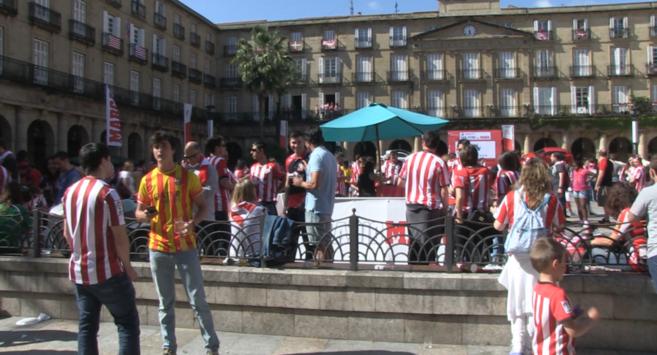 Fan Zone de la Plaza Nueva de Bilbao.
