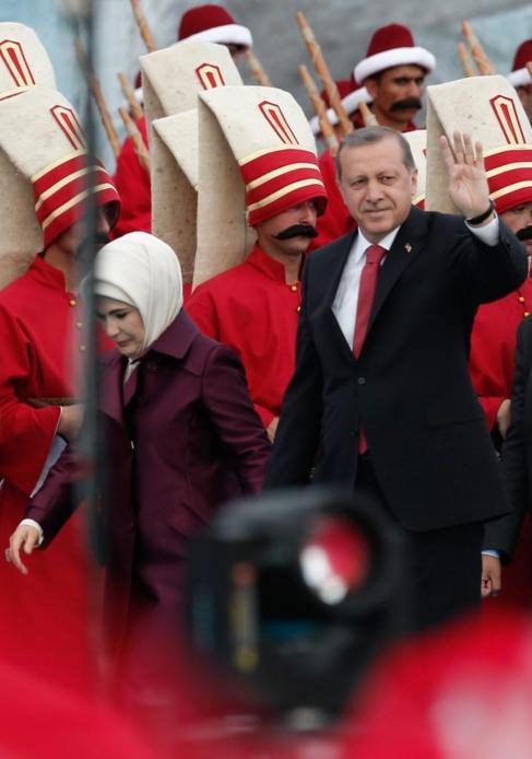 El presidente Recep Tayip Erdogan, y su esposa, ayer en Estambul.