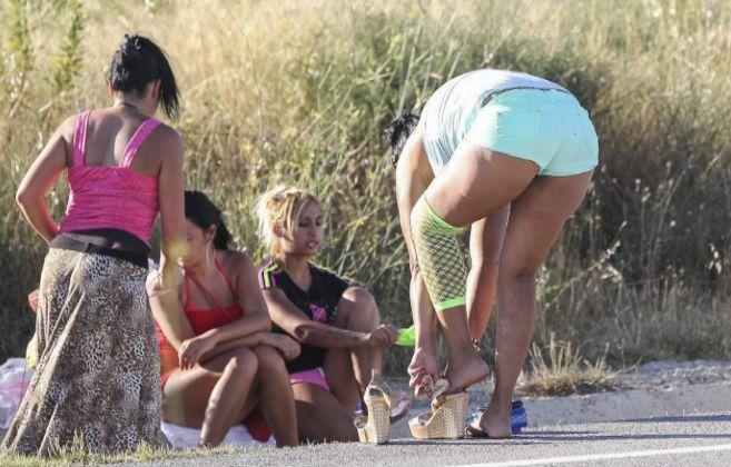 Prostitutas en La Junquera (Girona).