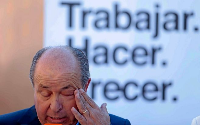 El actual alcalde de Granada, Torres Hurtado, durante una rueda de...