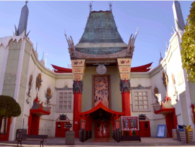 Fachada del teatro chino 'Palacio oriental'.