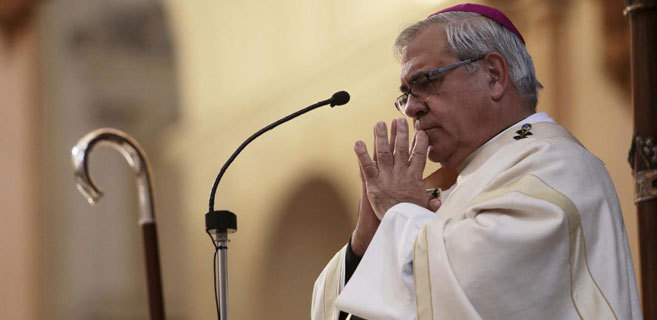 El arzobispo de Granada, Francisco Javier Martínez, el día que...