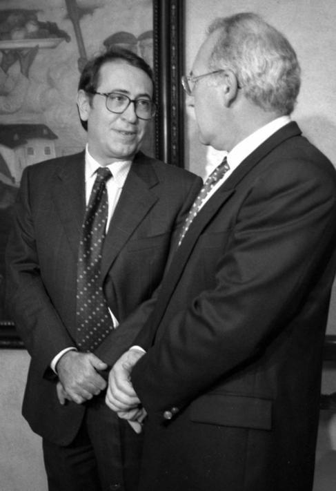 Nicolás Redondo Terreros y José Antonio Ardanza.
