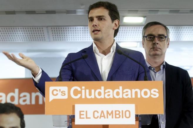 Albert Rivera, el pasado 25 de mayo, tras la jornada electoral.