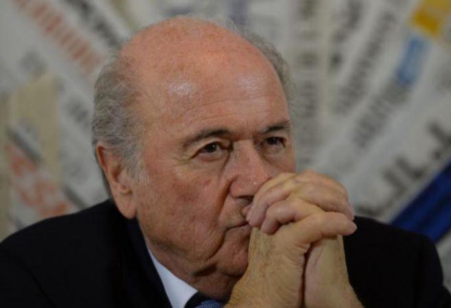 Blatter, durante una rueda de prensa.