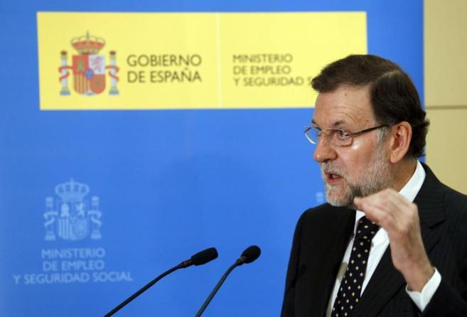 El presidente del Gobierno, Mariano Rajoy, el martes, en la jornada de...