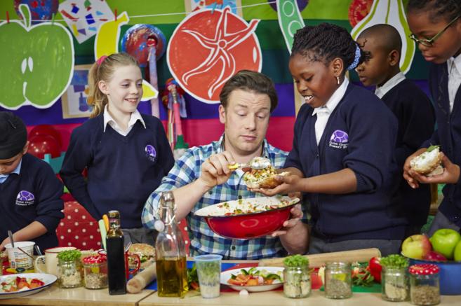 El chef Jamie Oliver, en la campaña 'Food Revolution Day'.