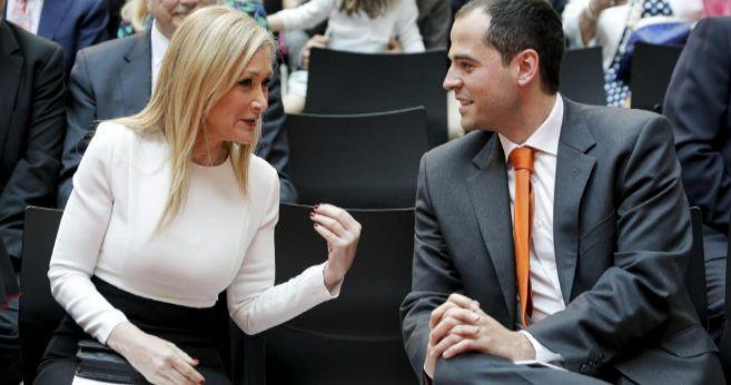 Cristina CIfuentes e Ignacio Aguado en los actos institucionales del 2...