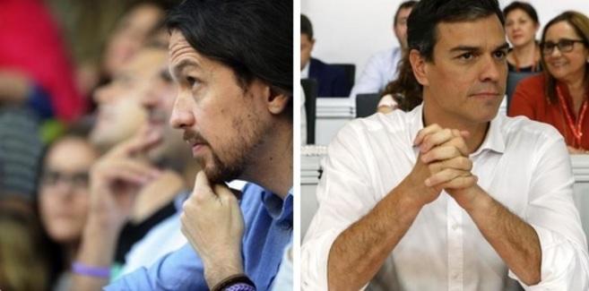 Pablo Iglesias y Pedro Sánchez se verán esta tarde.
