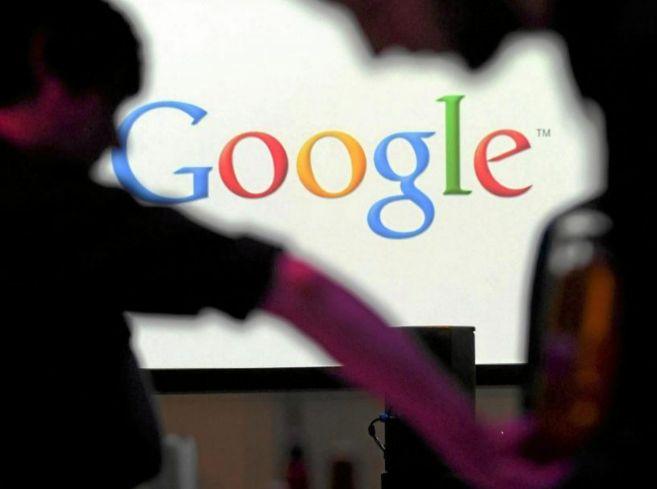 Vista del logo de Google en las oficinas de la empresa