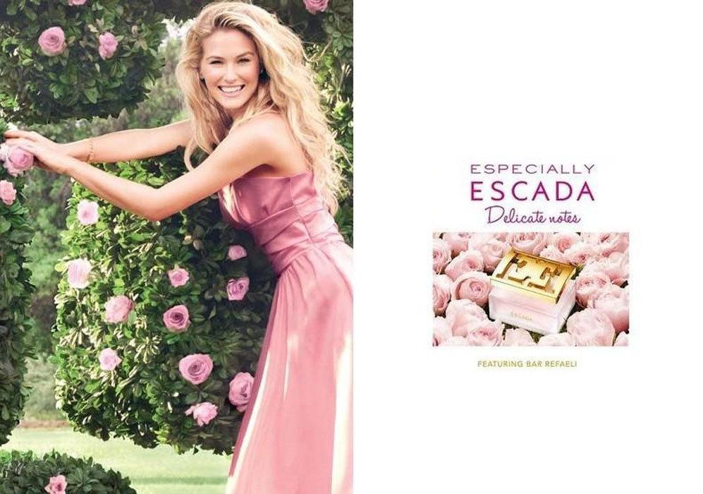 Desde 2014 es la imagen de uno de los perfumes de la firma Escada.