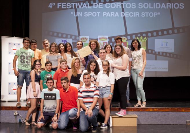 Algunos de los chicos participantes en el Festival de Cortometrajes.
