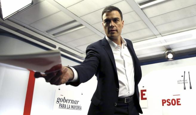 Pedro Sánchez, en la rueda de prensa celebrada hoy.