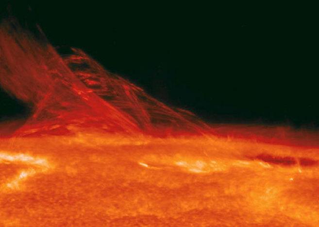 Imagen de la superficie del sol captada por la misión...