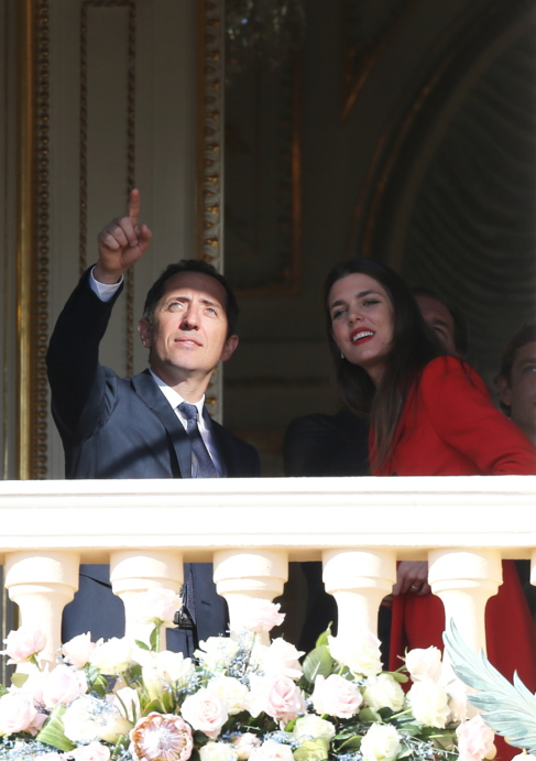 La pareja, el pasado enero en el balcón del palacio de Mónaco.