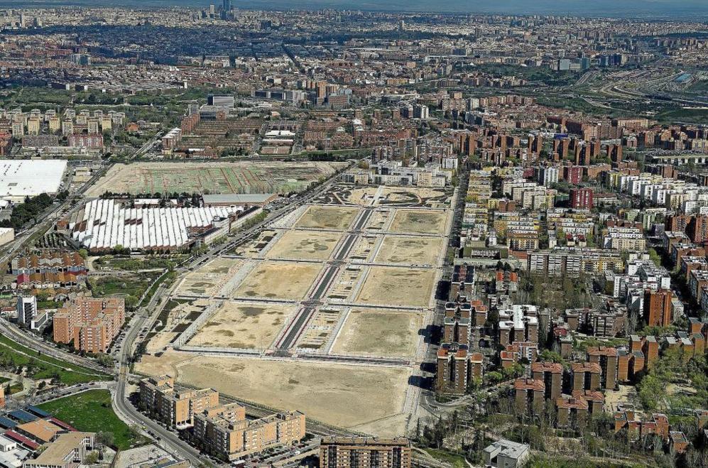 Foto aérea de los terrenos del nuevo ámbito del Parque Central de...