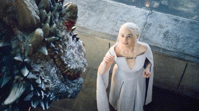 Emilia Clarke, en el papel de Daenerys Targaryen.
