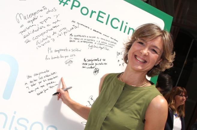 Isabel García Tejerina, ministra de Agricultura, Alimentación y...