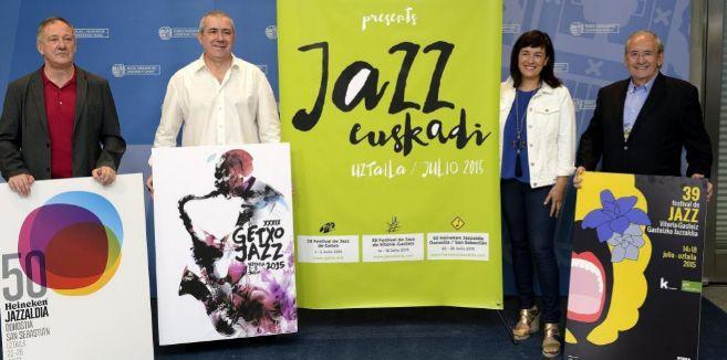 Los directores de los tres festivales de Jazz del País Vasco, Miguel...
