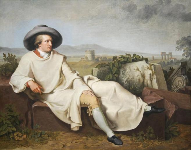 El cuadro de Johann Heinrich Wilhelm que fijó la imagen del poeta...