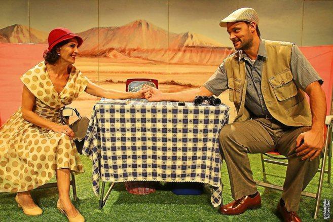 David García-Intríago y Gema Matarranz en una escena de la obra...
