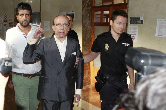 José María Ruiz-Mateos en los Juzgados de Palma para declarar por la...