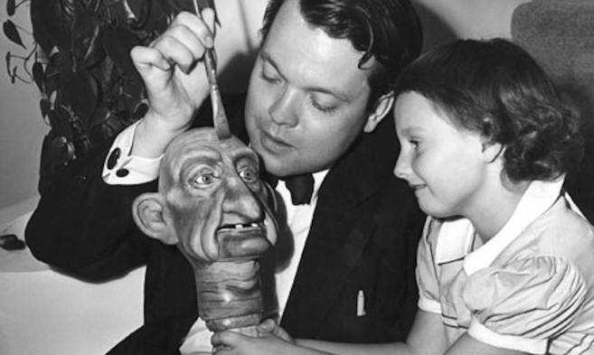 Orson Welles con su hija Chris Welles