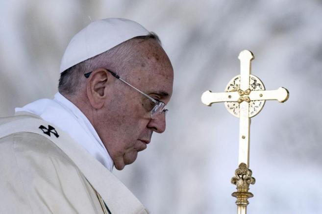 El papa Francisco oficia la misa del Corpus Christi en la basílica de...