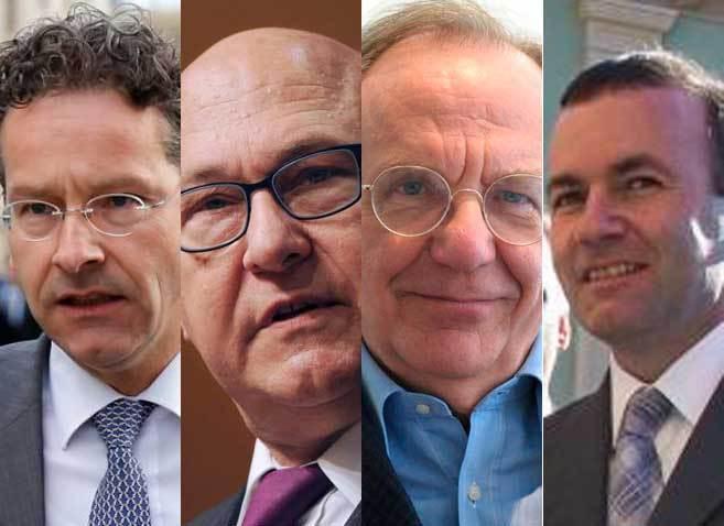 Jeroen Dijsselbloem (REUTERS), Michel Sapin (AFP), Pier Carlo Padoan...