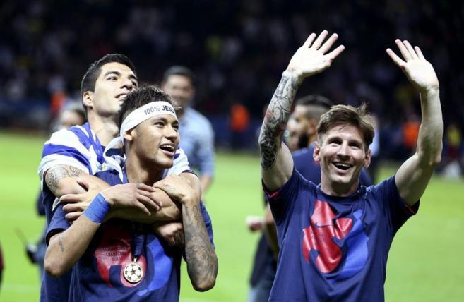Luis Suárez, Neymar y Messi, componentes de un terceto histórico