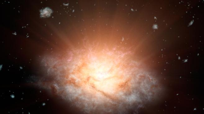Recreación artística de la galaxia WISE J224607.