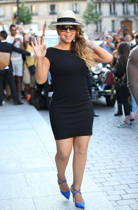 Mariah carey en Paría, el 6 de junio.