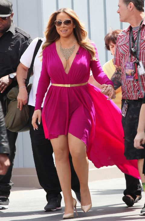 Mariah Carey en Anaheim, California, el 19 de mayo.