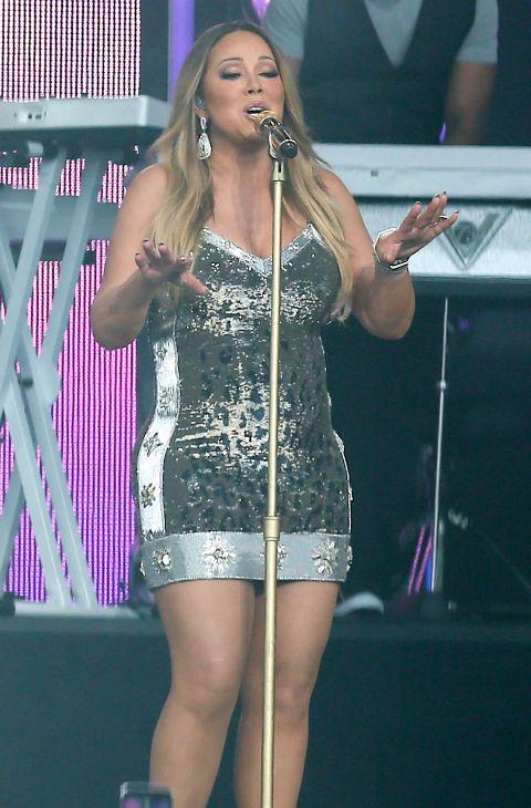 La cantante durante su actuación en el 'show' 'Jimmy Kimmel Live!' en...
