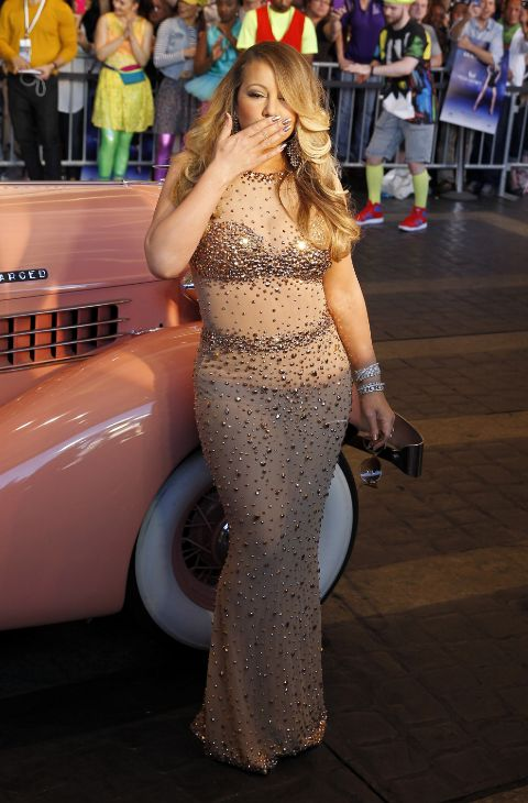 La cantante durante su llegada a un evento en del Ceasar Palace, en...