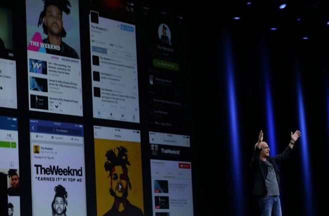 Un momento de la presentación de Apple Music.
