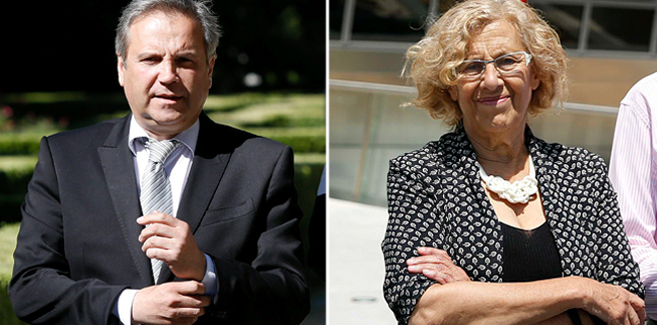 Antonio Carmona (izda.) y Manuela Carmena.
