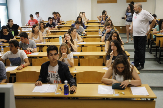 Clases de la Universidad Jaume I donde han comenzado los exámenes de...