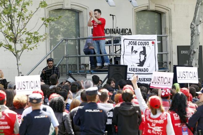 David Couso, en abril, durante un acto para pedir Justicia para su...