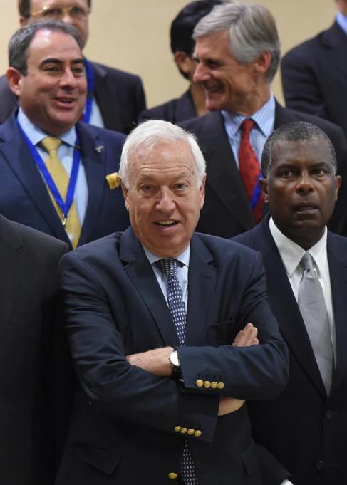 El ministro de Asuntos Exteriores, José Manuel García-Margallo, en...