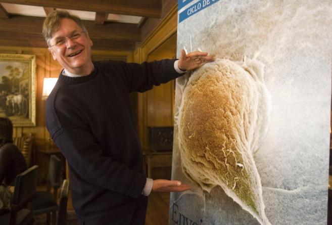 El bioquímico británico Tim Hunt, durante una visita a Bilbao para...