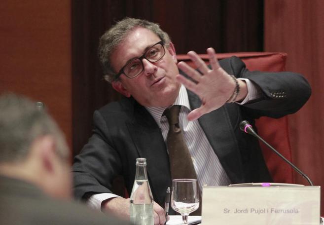Jordi Pujol Ferrusola, durante su comparecencia en la comisión de...