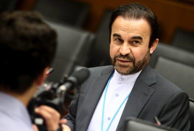 Reza Najafi en la sede del Organismo Internacional de la Energía...