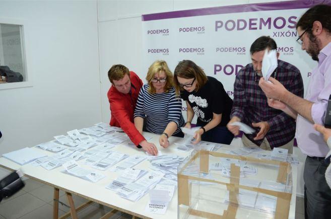El recuento de votos tras la consulta.