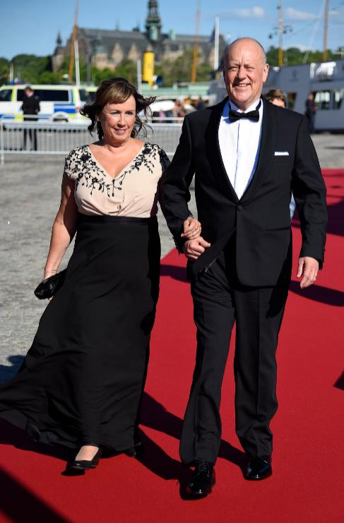 Los padres de la novia, verdadera protagonista de la ceremonia, Marie...