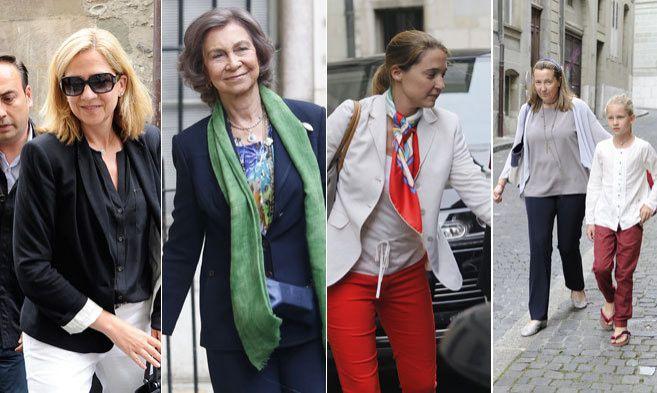 La Infanta Cristina, la Reina Doña Sofía, Victoria Borbón y...