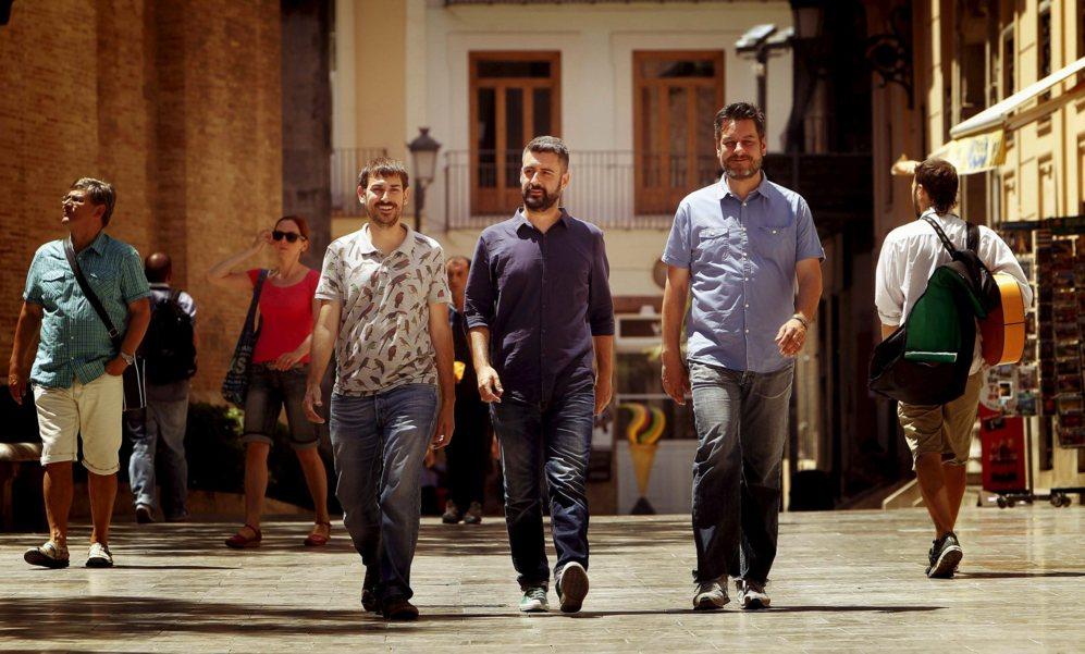 Sergi Castillo, Pere Fuset y Carlos Galiana, los tres concejales...
