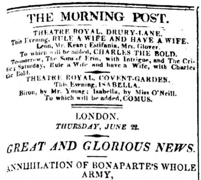 'The Morning Post' publicaba la exclusiva de la...