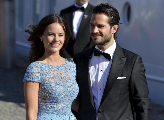 La ex modelo Sofía Hellqvist junto al príncipe Carlos Felipe de...